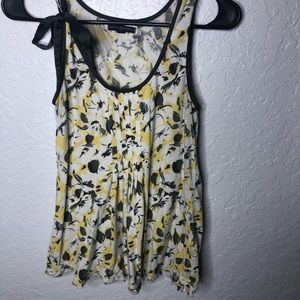 American eagle bow floral tank top